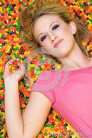 Mujer del caramelo