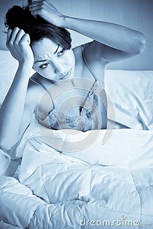 Mujer del insomnio