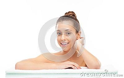 Mujer en el balneario, retrato