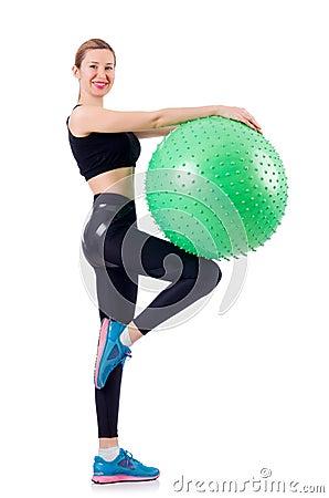 Mujer joven con la bola