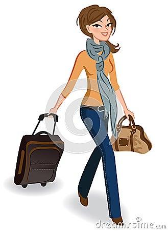 Mujer que viaja
