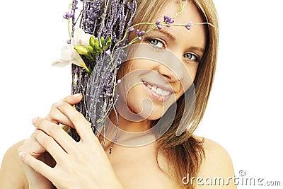 Mujer sonriente - sonrisa dentuda, dientes blancos