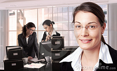 Mujeres en oficina