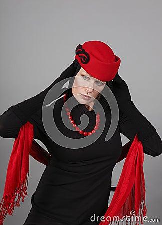 Mujeres maduras con el sombrero rojo