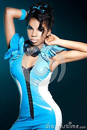 Mulatto girl DJ