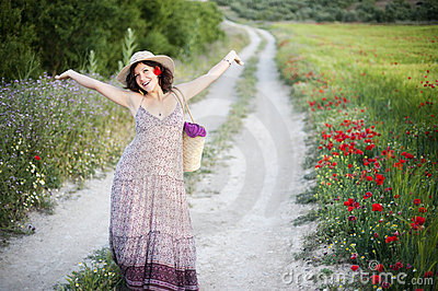 Mulher alegre