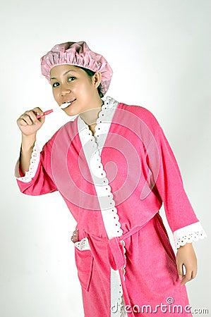 Mulher asiática nova