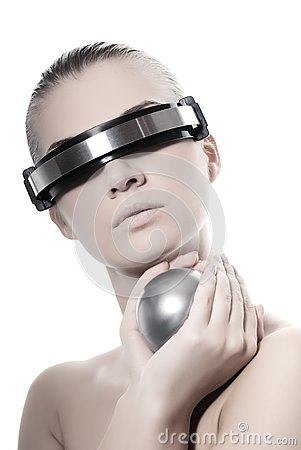 Mulher bonita do cyber