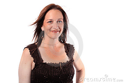 Mulher bonita em seus anos quarenta