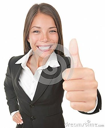 Mulher de negócio do sucesso