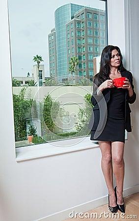 Mulher de negócios atrativa do caucasian dos anos quarenta