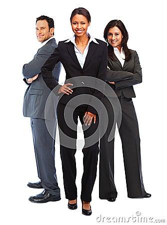 Mulher de negócio bem sucedida do americano africano