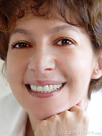 Mulher de sorriso