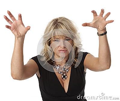 Mulher irritadiço na menopausa
