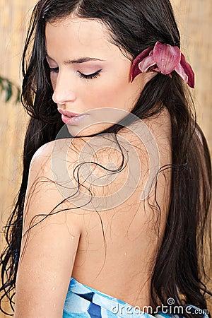 Mulher molhada