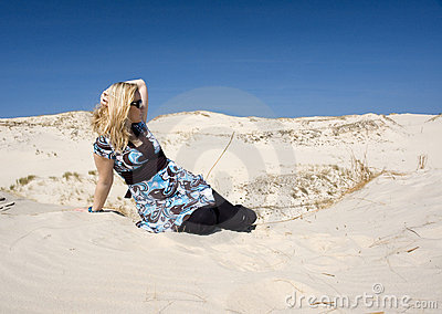 Mulher na areia