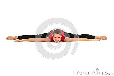 Mulher que faz o split