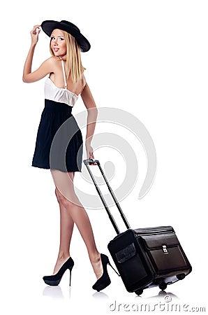 Mulher que prepara-se para férias