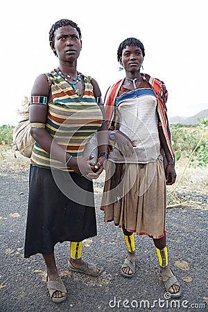 Mulheres africanas com tatuagem tradicional Fotografia Editorial