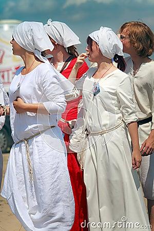 Mulheres medievais Imagem Editorial