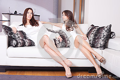 Mulheres na sala de visitas