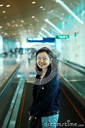 Mulheres no aeroporto