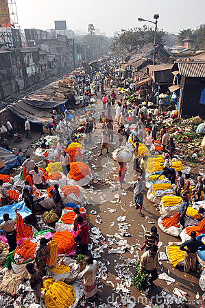 Mulik Ghat Flower Market 2 Editorial Photo