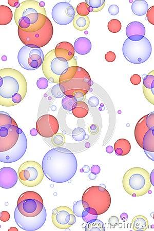 Mulit colored bubbles
