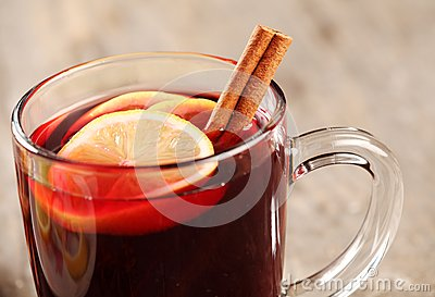 Mulled wine detail