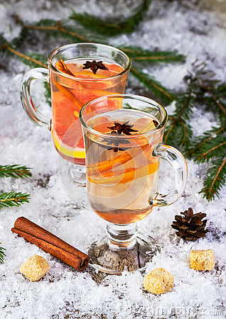 Free Mulled Wine From White Wine Royalty Free Stock Photo - 61947555