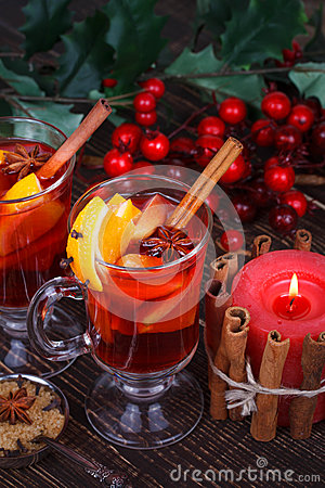 Free Mulled Wine Or Fruit Tea Stock Photography - 47807042