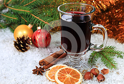 Mulled wine in the snow