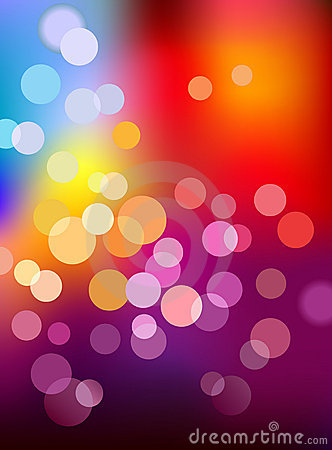 Multi color defocus light background