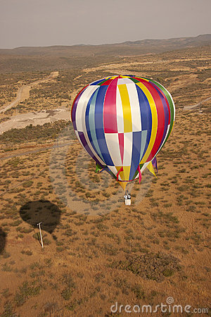 Multi color hot air balloon