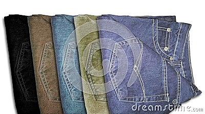 Multi color jeans trousers