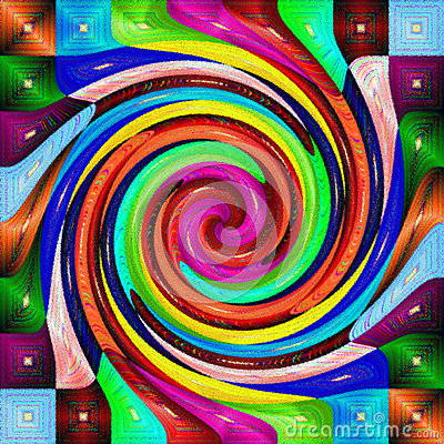 Free Multi Color Psychedelic Spiral Royalty Free Stock Photo - 63224145