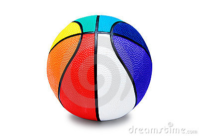 Multi-colored  ball