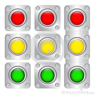 Multi-colored buttons