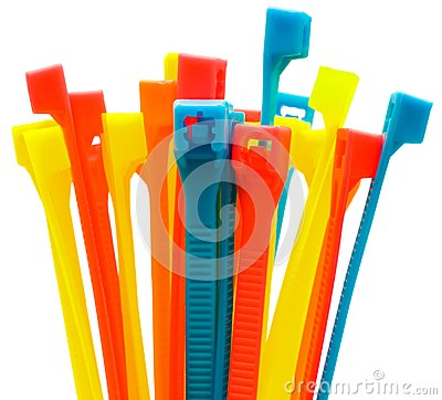 Multi colored cable ties