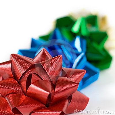 Multi-colored Christmas Bows