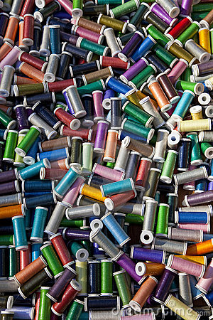 Multi Colored Cotton Reels
