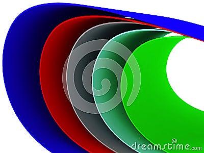Multi colored curves