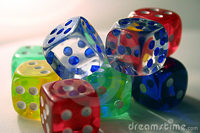 Multi-colored dice