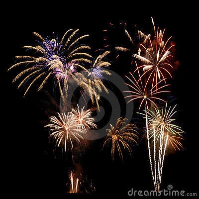 Free Multi-colored Firework Display Royalty Free Stock Photo - 11043655