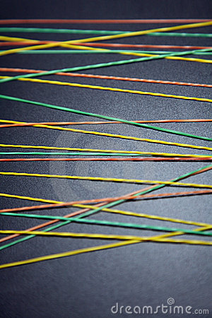 Free Multi-colored Rubberbands Stock Photography - 4327902