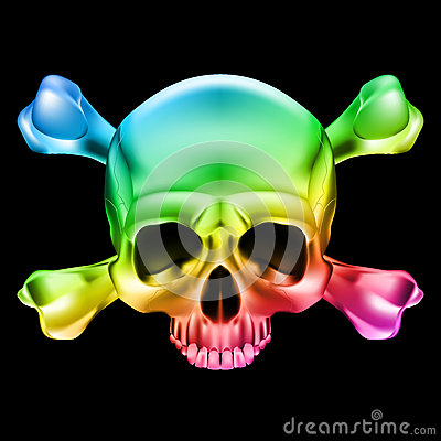 Free Multi-colored Skull Stock Photos - 31678193