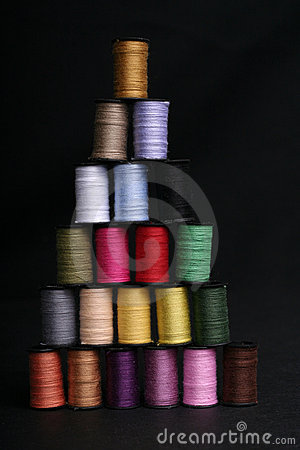 Multi-colored Thread Pyramid