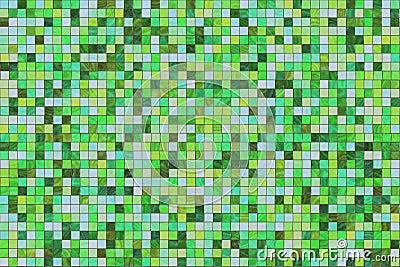 Multi colored tiles
