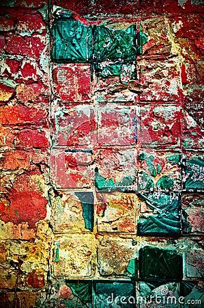 Multi-colored wall