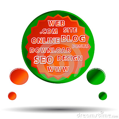 Multi-colored web poster
